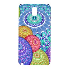 India Ornaments Mandala Balls Multicolored Samsung Galaxy Note 3 N9005 Hardshell Back Case by EDDArt