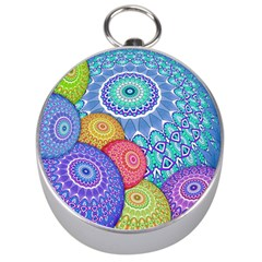 India Ornaments Mandala Balls Multicolored Silver Compasses by EDDArt