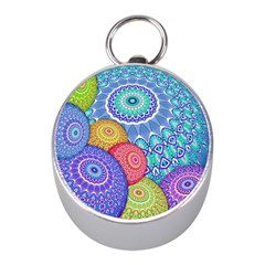 India Ornaments Mandala Balls Multicolored Mini Silver Compasses by EDDArt