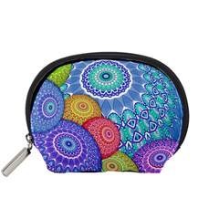 India Ornaments Mandala Balls Multicolored Accessory Pouches (small)  by EDDArt