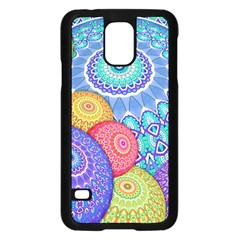 India Ornaments Mandala Balls Multicolored Samsung Galaxy S5 Case (black)