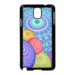 India Ornaments Mandala Balls Multicolored Samsung Galaxy Note 3 Neo Hardshell Case (black) by EDDArt