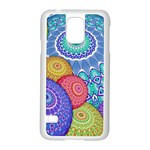 India Ornaments Mandala Balls Multicolored Samsung Galaxy S5 Case (White) Front