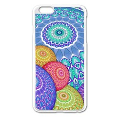 India Ornaments Mandala Balls Multicolored Apple Iphone 6 Plus/6s Plus Enamel White Case by EDDArt