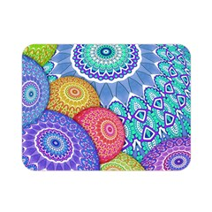 India Ornaments Mandala Balls Multicolored Double Sided Flano Blanket (mini)  by EDDArt