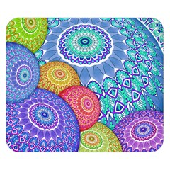 India Ornaments Mandala Balls Multicolored Double Sided Flano Blanket (small)  by EDDArt