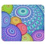 India Ornaments Mandala Balls Multicolored Double Sided Flano Blanket (Small)  50 x40 Blanket Back