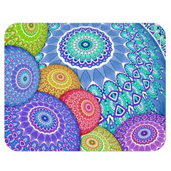 India Ornaments Mandala Balls Multicolored Double Sided Flano Blanket (medium)  by EDDArt