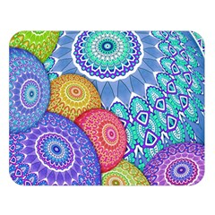 India Ornaments Mandala Balls Multicolored Double Sided Flano Blanket (large)  by EDDArt