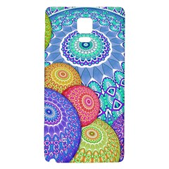India Ornaments Mandala Balls Multicolored Galaxy Note 4 Back Case by EDDArt