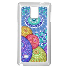 India Ornaments Mandala Balls Multicolored Samsung Galaxy Note 4 Case (white) by EDDArt