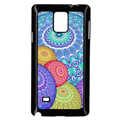 India Ornaments Mandala Balls Multicolored Samsung Galaxy Note 4 Case (black) by EDDArt
