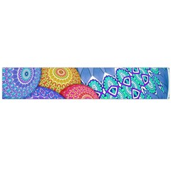 India Ornaments Mandala Balls Multicolored Flano Scarf (large) by EDDArt