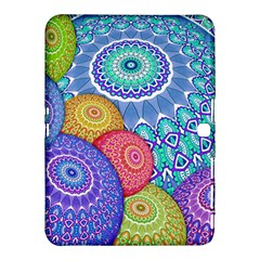 India Ornaments Mandala Balls Multicolored Samsung Galaxy Tab 4 (10 1 ) Hardshell Case  by EDDArt