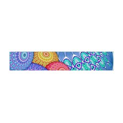 India Ornaments Mandala Balls Multicolored Flano Scarf (mini) by EDDArt