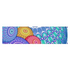 India Ornaments Mandala Balls Multicolored Satin Scarf (oblong) by EDDArt