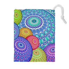 India Ornaments Mandala Balls Multicolored Drawstring Pouches (extra Large) by EDDArt