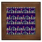 Cute Cactus Blossom Framed Tiles Front