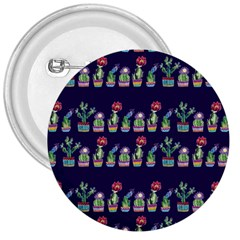 Cute Cactus Blossom 3  Buttons by DanaeStudio