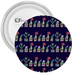 Cute Cactus Blossom 3  Buttons Front