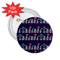 Cute Cactus Blossom 2 25  Buttons (100 Pack)