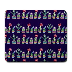 Cute Cactus Blossom Large Mousepads by DanaeStudio