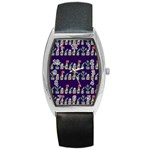 Cute Cactus Blossom Barrel Style Metal Watch Front