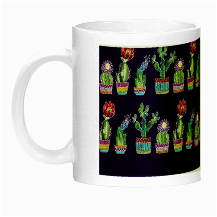 Cute Cactus Blossom Night Luminous Mugs