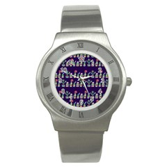 Cute Cactus Blossom Stainless Steel Watch