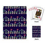 Cute Cactus Blossom Playing Card Back