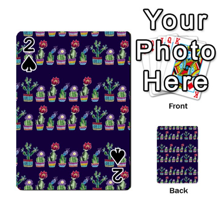 Cute Cactus Blossom Playing Cards 54 Designs