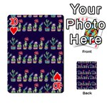 Cute Cactus Blossom Playing Cards 54 Designs  Front - Heart10