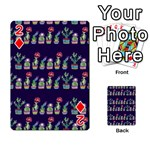 Cute Cactus Blossom Playing Cards 54 Designs  Front - Diamond2