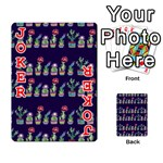 Cute Cactus Blossom Playing Cards 54 Designs  Front - Joker2