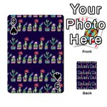 Cute Cactus Blossom Playing Cards 54 Designs  Front - Spade9