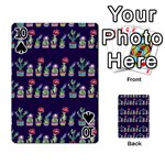 Cute Cactus Blossom Playing Cards 54 Designs  Front - Spade10