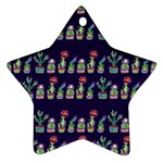 Cute Cactus Blossom Star Ornament (Two Sides)  Back