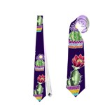 Cute Cactus Blossom Neckties (Two Side)  Front