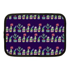 Cute Cactus Blossom Netbook Case (medium)  by DanaeStudio