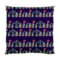 Cute Cactus Blossom Standard Cushion Case (two Sides) by DanaeStudio