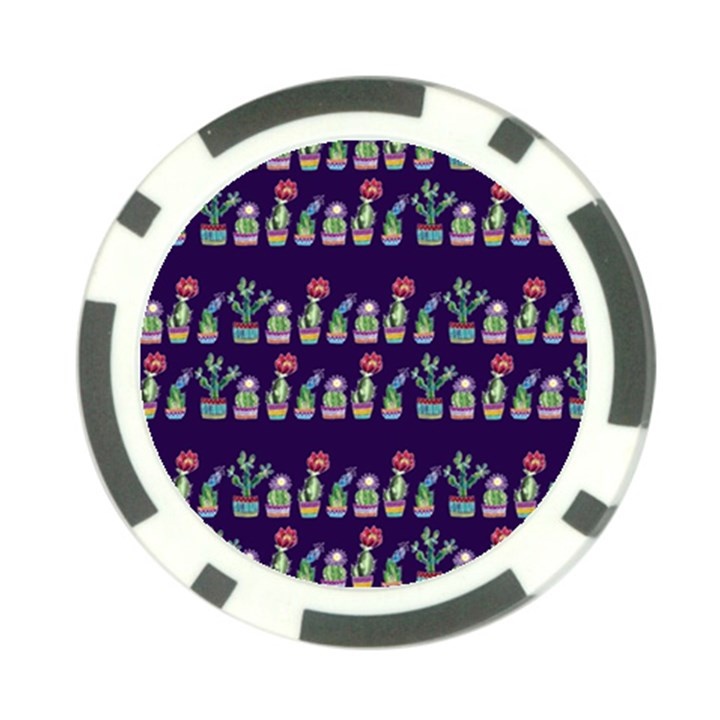 Cute Cactus Blossom Poker Chip Card Guards (10 pack)