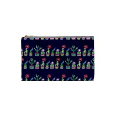 Cute Cactus Blossom Cosmetic Bag (small)  by DanaeStudio