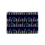 Cute Cactus Blossom Cosmetic Bag (Medium)  Front