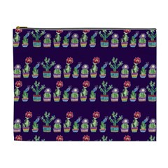 Cute Cactus Blossom Cosmetic Bag (xl) by DanaeStudio