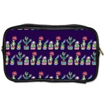 Cute Cactus Blossom Toiletries Bags 2-Side Front