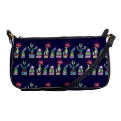 Cute Cactus Blossom Shoulder Clutch Bags by DanaeStudio