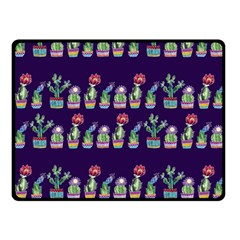 Cute Cactus Blossom Fleece Blanket (small) by DanaeStudio