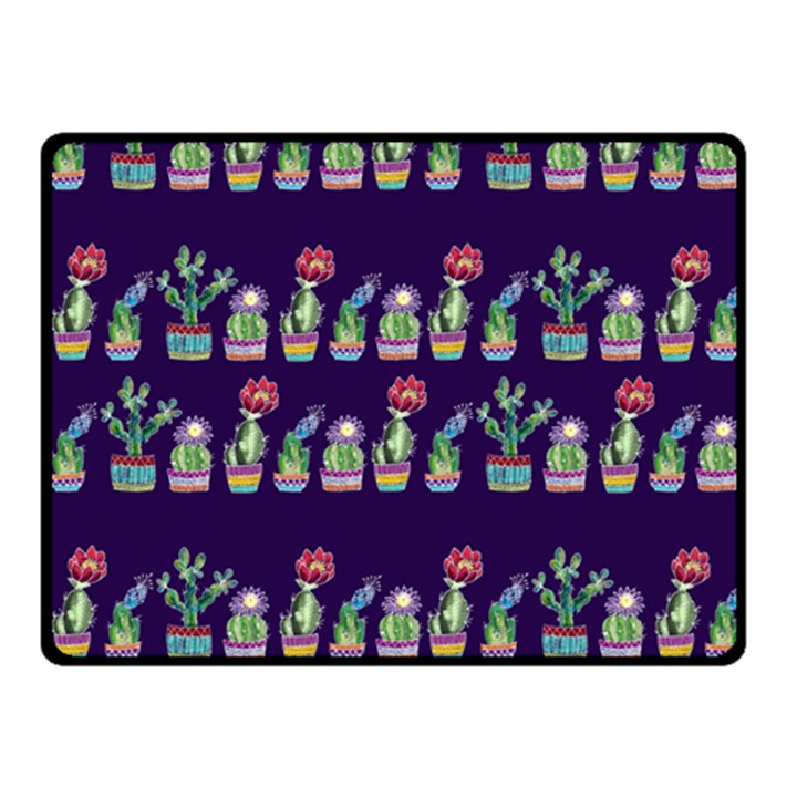 Cute Cactus Blossom Fleece Blanket (Small)