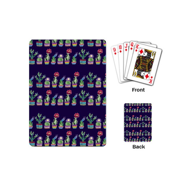 Cute Cactus Blossom Playing Cards (Mini)