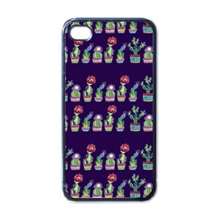 Cute Cactus Blossom Apple Iphone 4 Case (black) by DanaeStudio